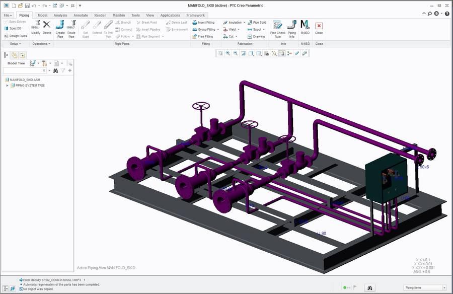 M4 ISO Isometrics Creo Piping