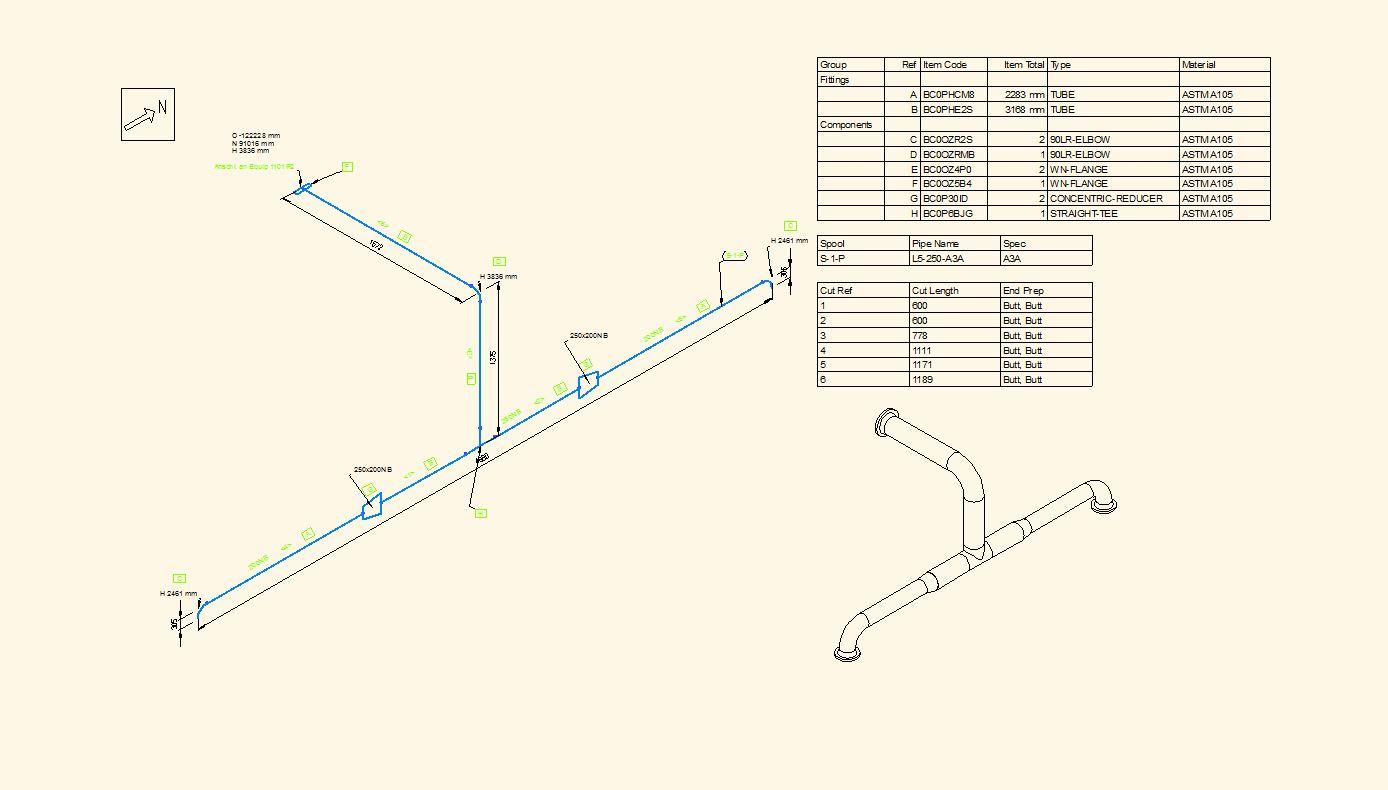 Rohrleitungsisometrie Isometrie