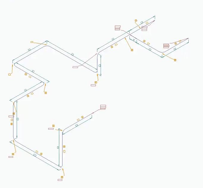 Rohrleitungsisometrien mit Höhenangaben